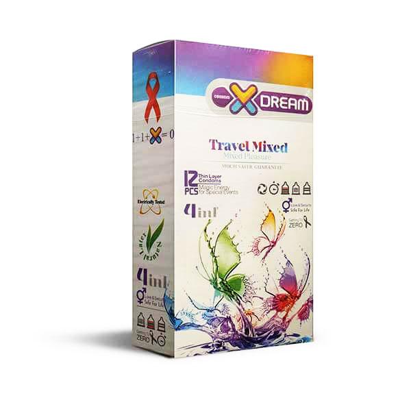 فروش ویژه کاندوم میوه ای مدل X-DREAM travel mixed با ارسال محرمانه